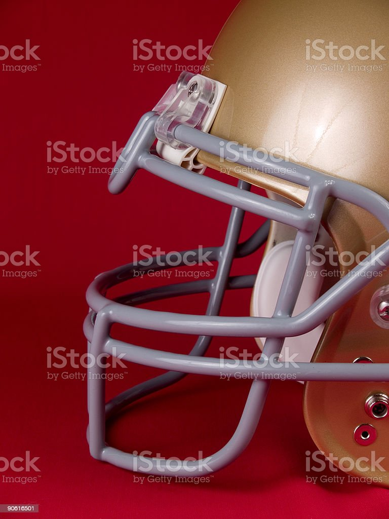 Football Helmet - Side View royalty-free stock photo