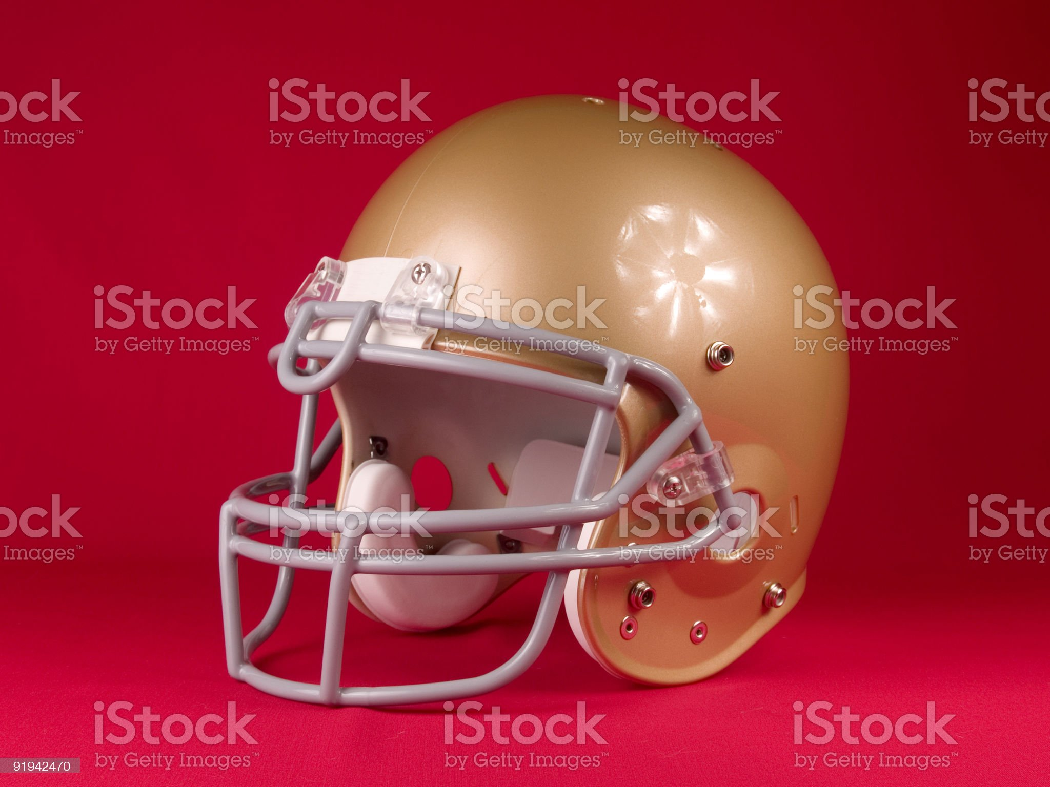Football Helmet - Turned royalty-free stock photo