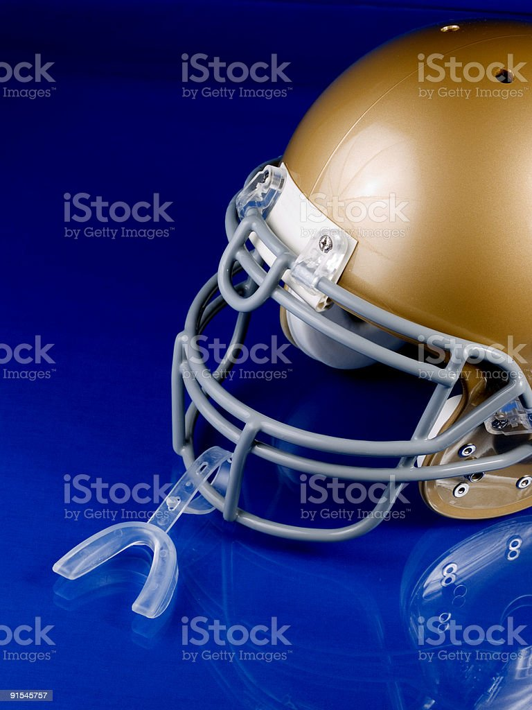 Football Helmet with Mouthguard royalty-free stock photo