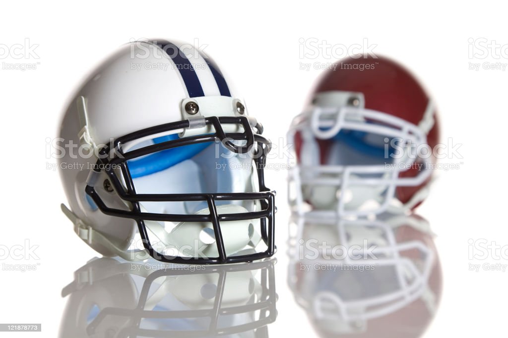 Football Helmets royalty-free stock photo