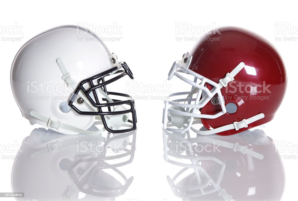 Football Helmets stock photo