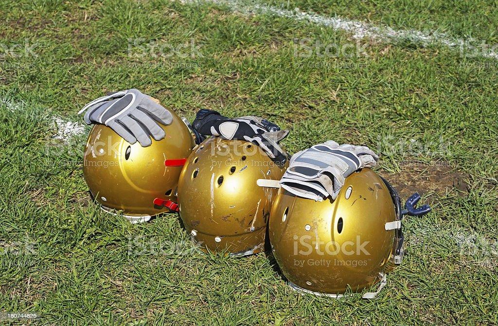 football helmets royalty-free stock photo