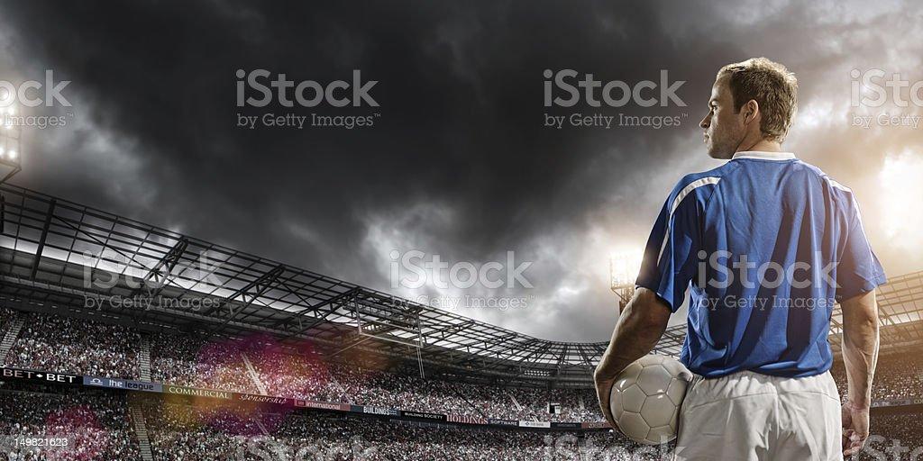 Football Hero royalty-free stock photo