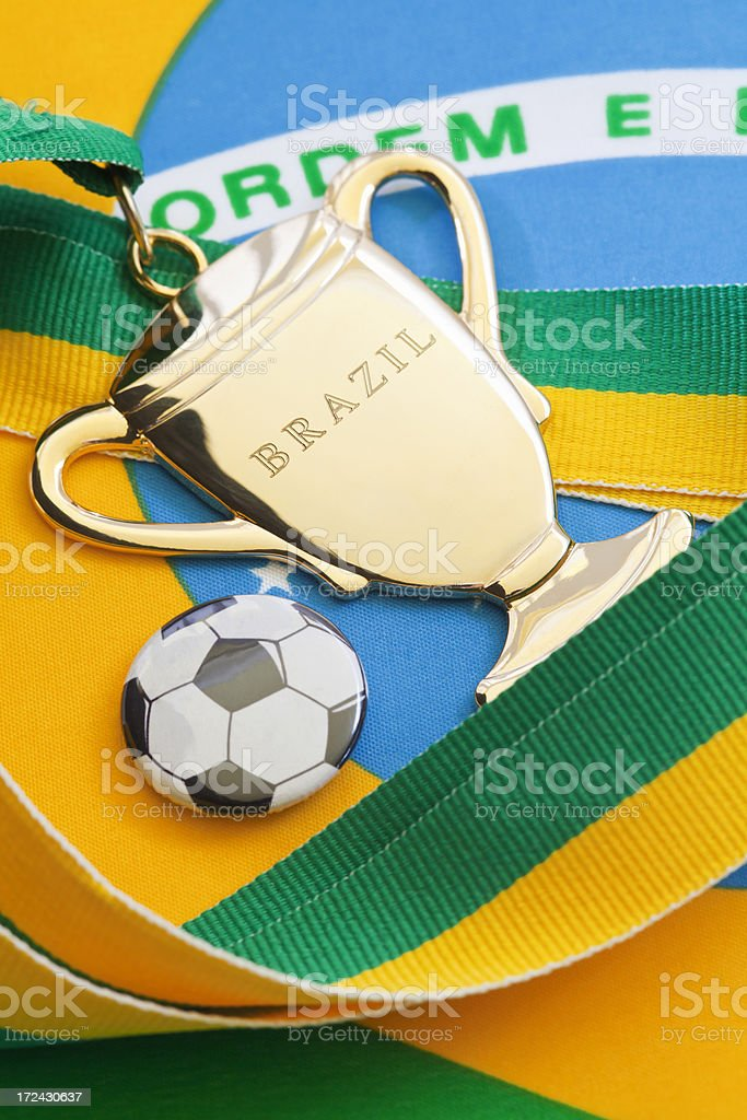 Football in Brazil royalty-free stock photo