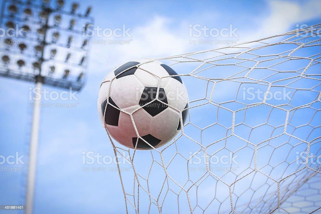 Calcio in Rete sportiva foto stock royalty-free