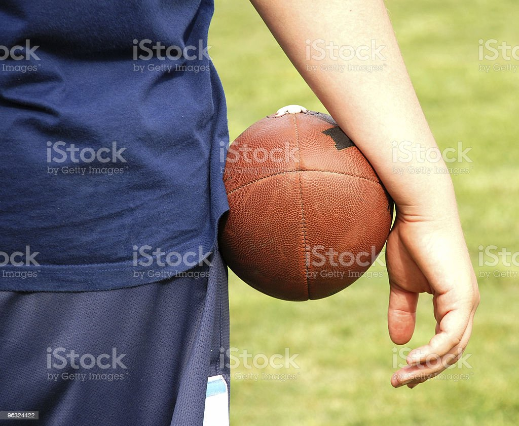 football in the hand royalty-free stock photo