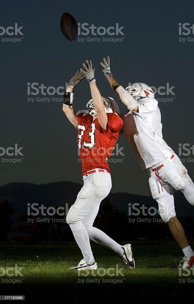 football: interception royalty-free stock photo