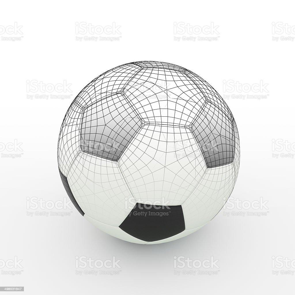Football isolate on white royalty-free stock photo