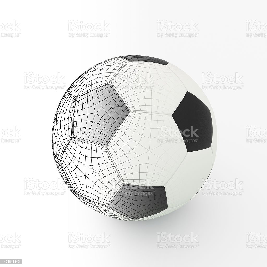 Football isolate on white royalty-free stock photo