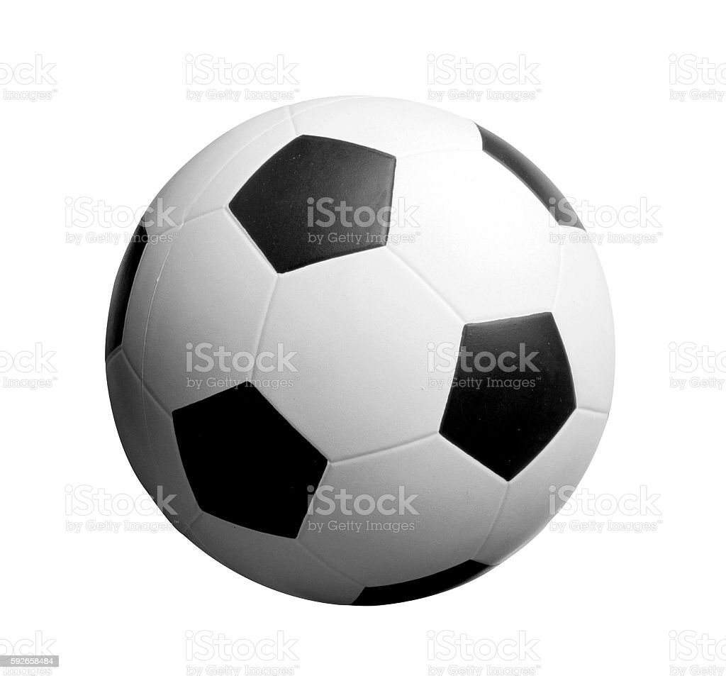 Football. Isolated object on a white background stock photo