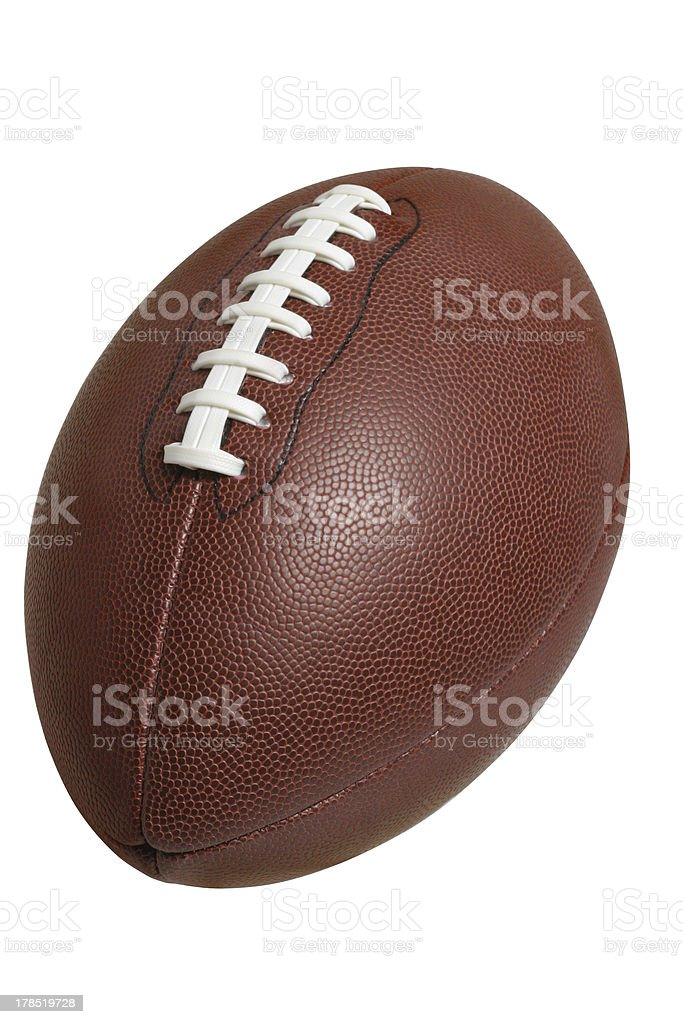 Football isolated with clipping path royalty-free stock photo