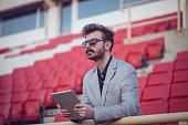 Football journalist viewed football team