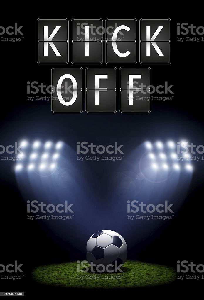 Football kick off stock photo