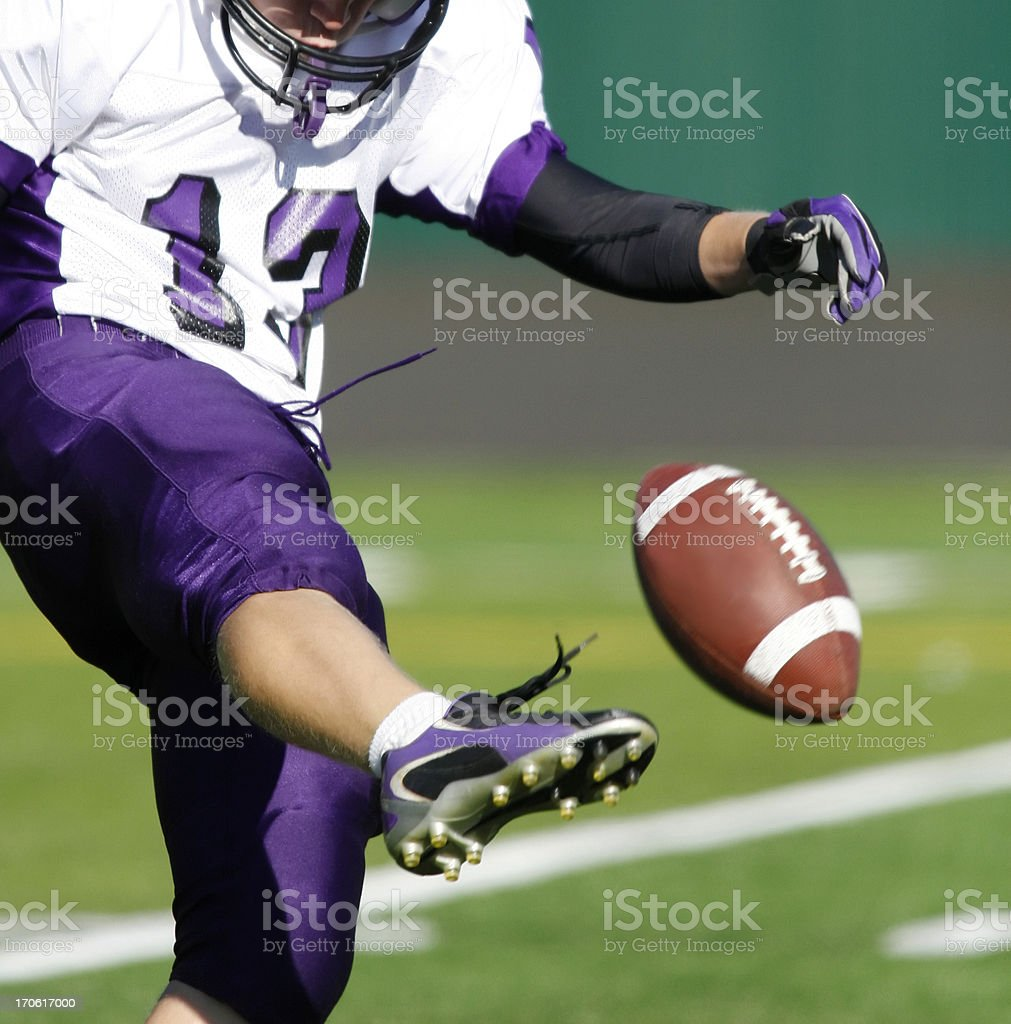Football Kicker stock photo