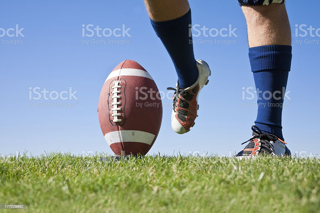 Football Kickoff stock photo