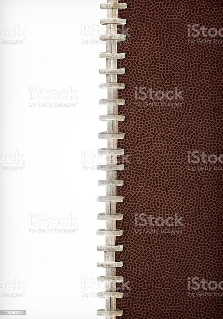 Football Laces Background stock photo