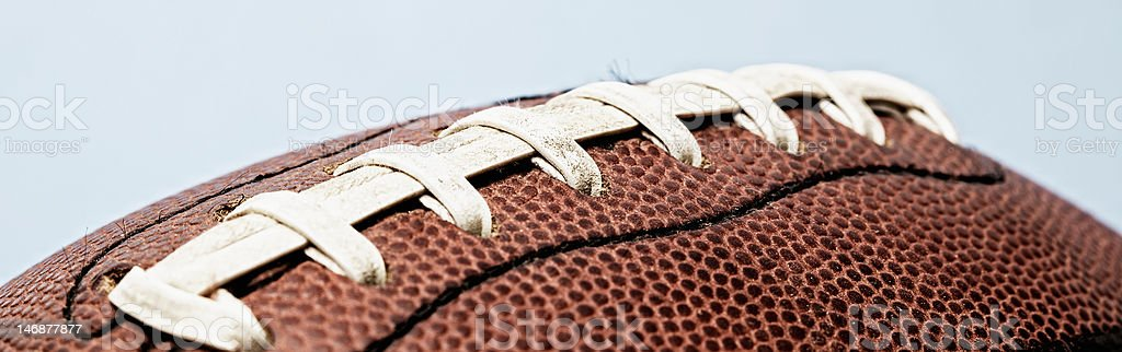 Football Laces Close Up royalty-free stock photo
