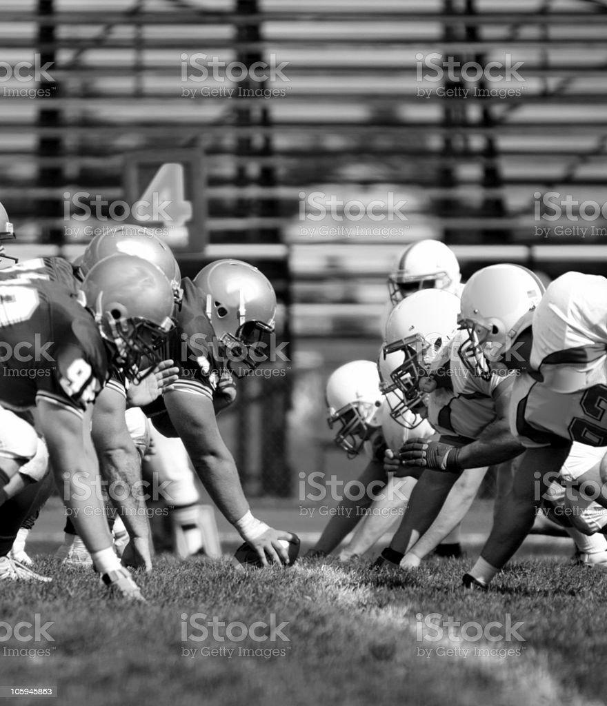NCAA Football Line stock photo