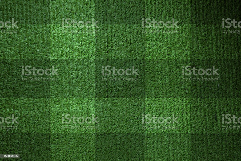 Football lined green grass royalty-free stock photo