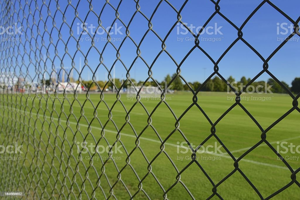 Football lock out royalty-free stock photo