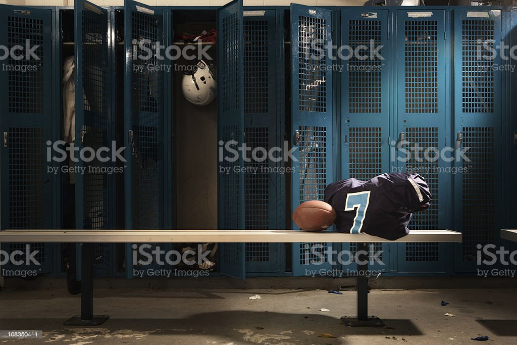 Football Locker room stock photo