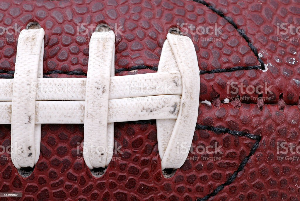 Football macro, laces royalty-free stock photo