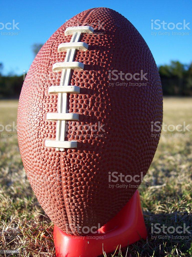 Football Macro Portrait stock photo