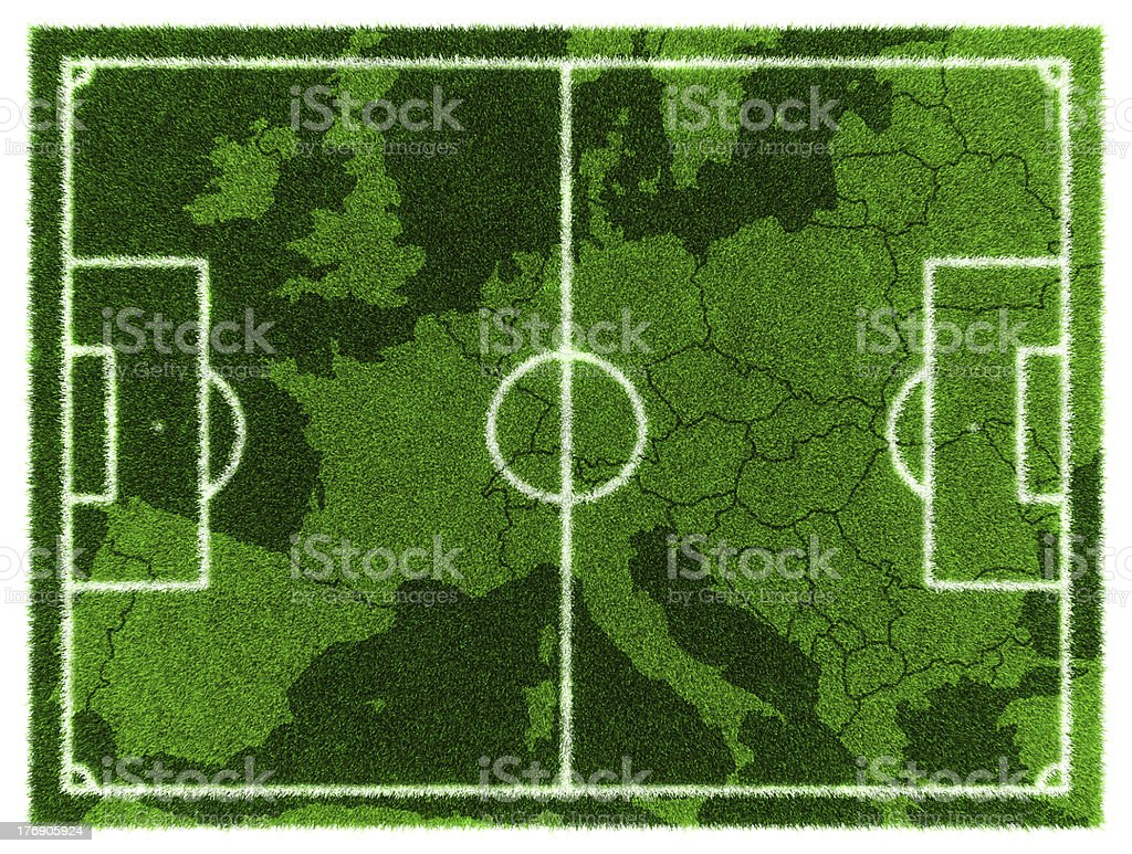 Football map. Central Europe royalty-free stock photo