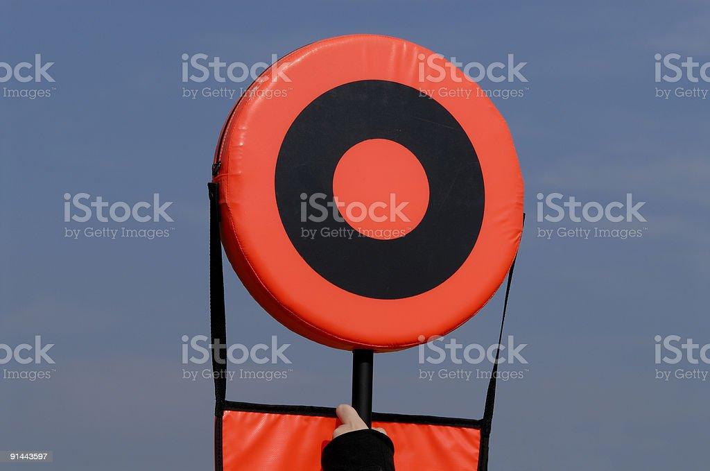 Football Marker stock photo