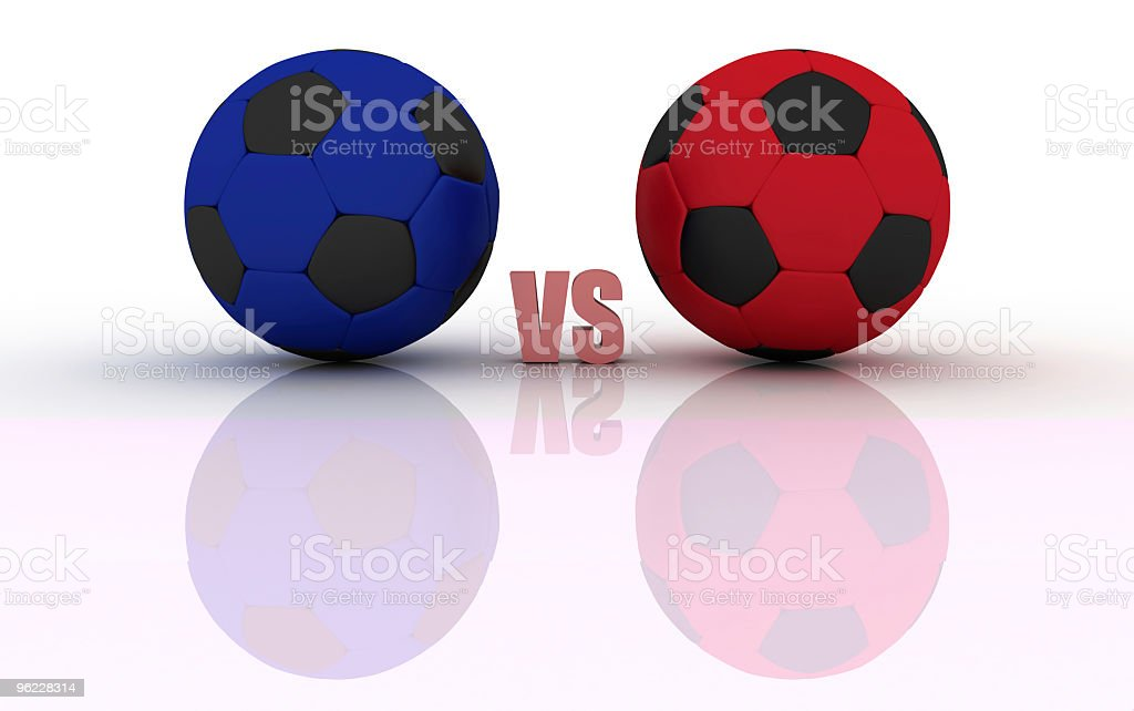 Football match (isolated on white) stock photo