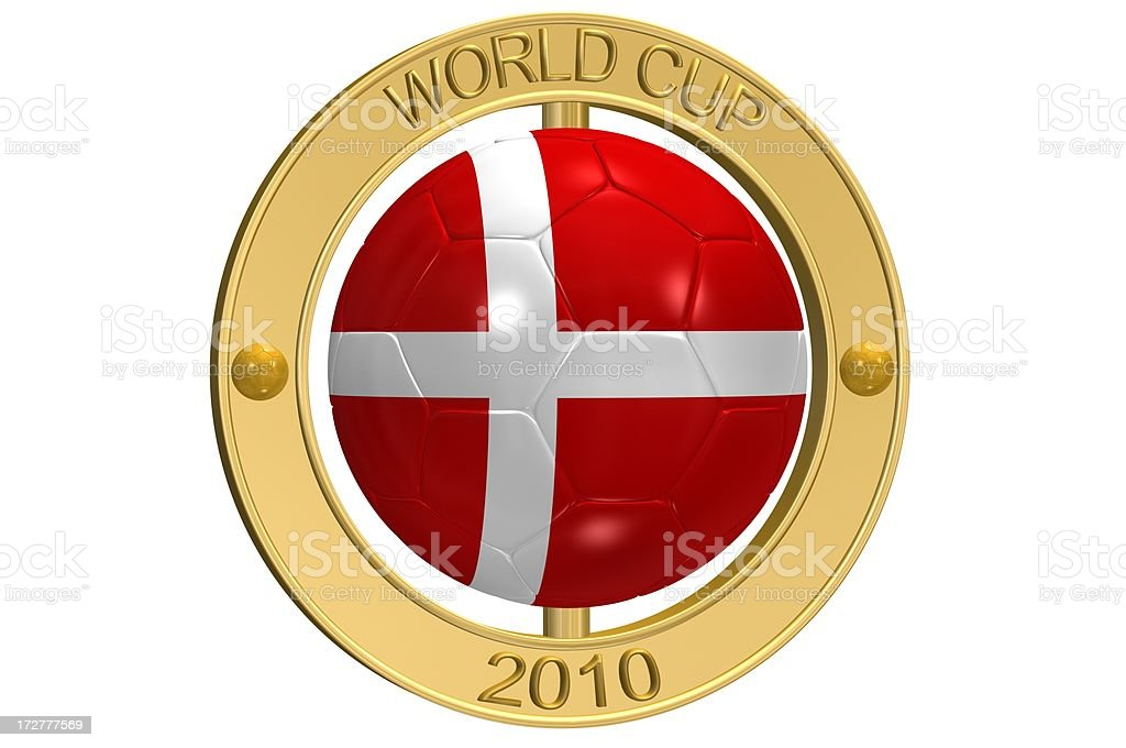 Football Medallion - Denmark royalty-free stock photo