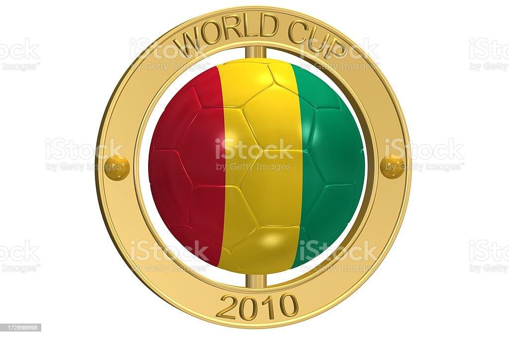 Football Medallion - Guinea royalty-free stock photo