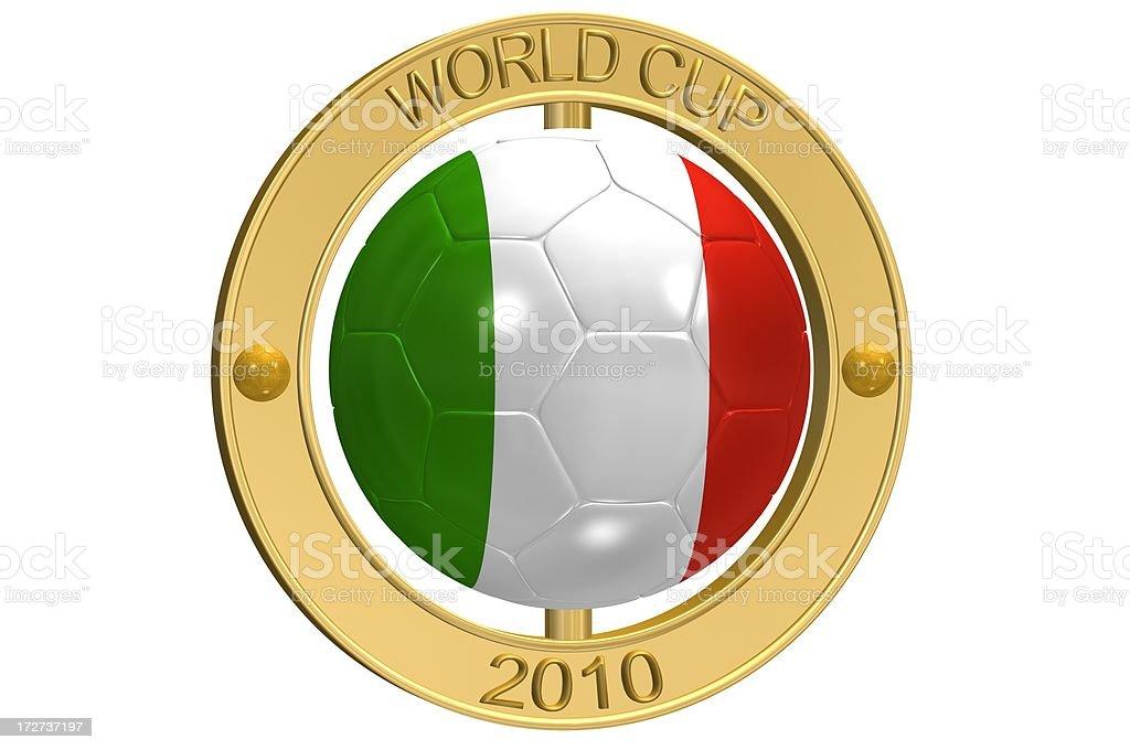 Football Medallion - Italy royalty-free stock photo
