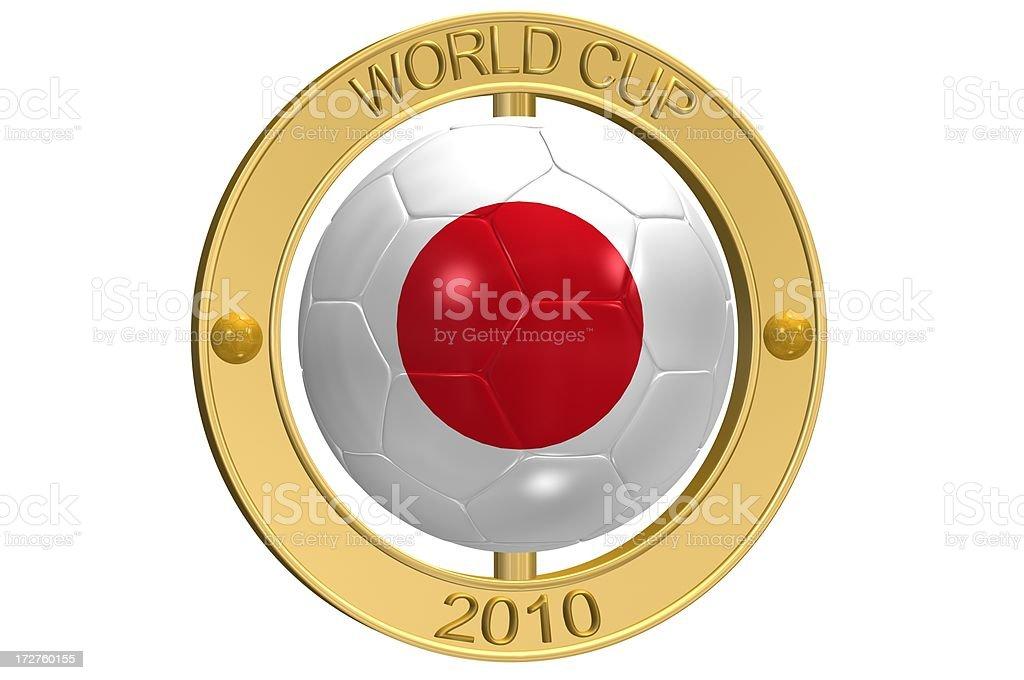 Football Medallion - Japan royalty-free stock photo