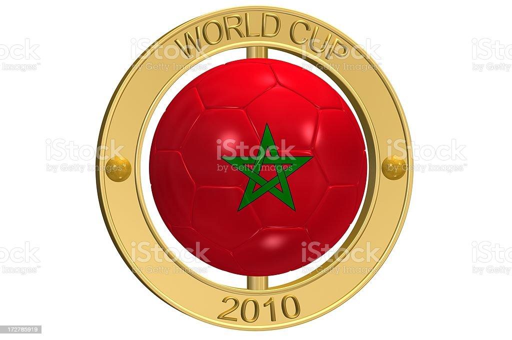 Football Medallion - Morocco stock photo