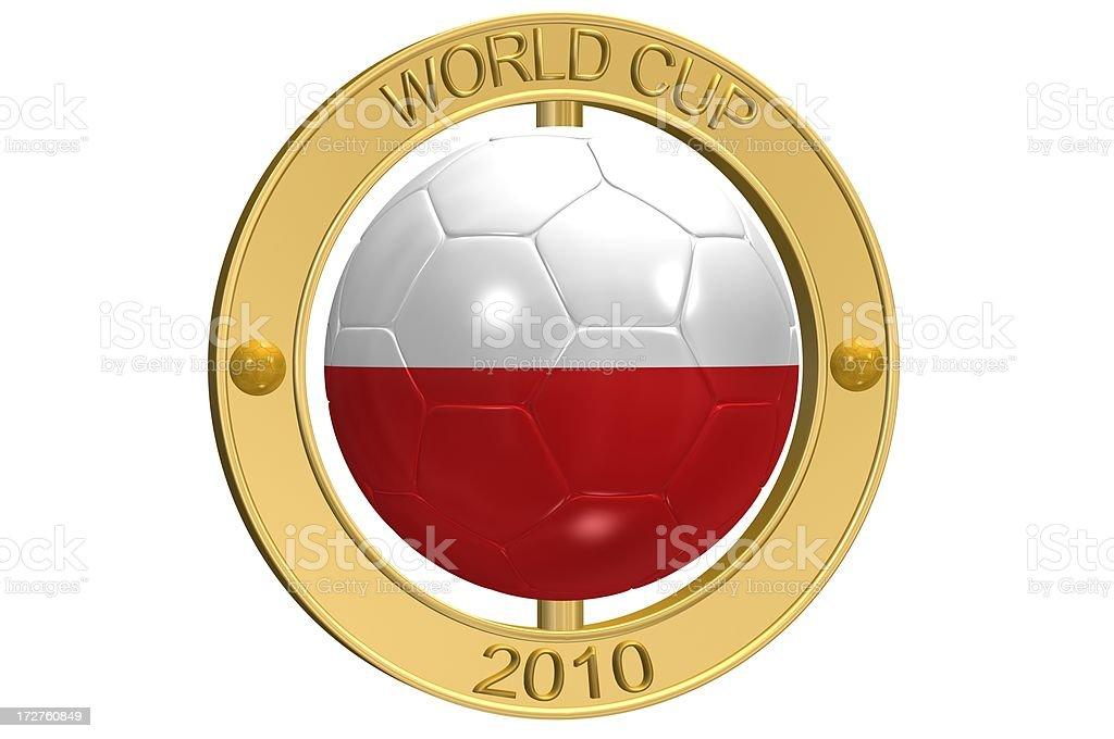 Football Medallion - Poland royalty-free stock photo