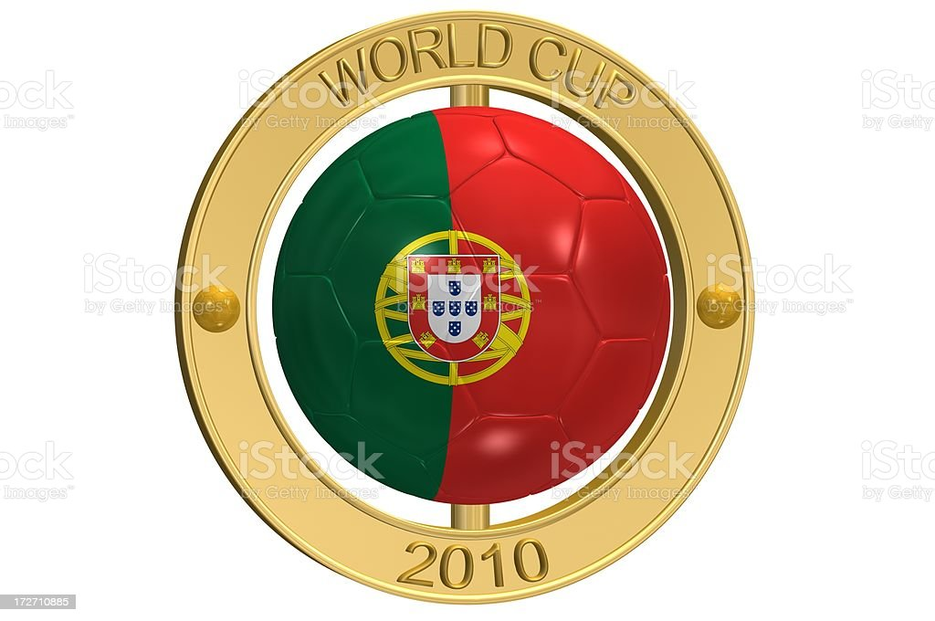 Football Medallion - Portugal royalty-free stock photo