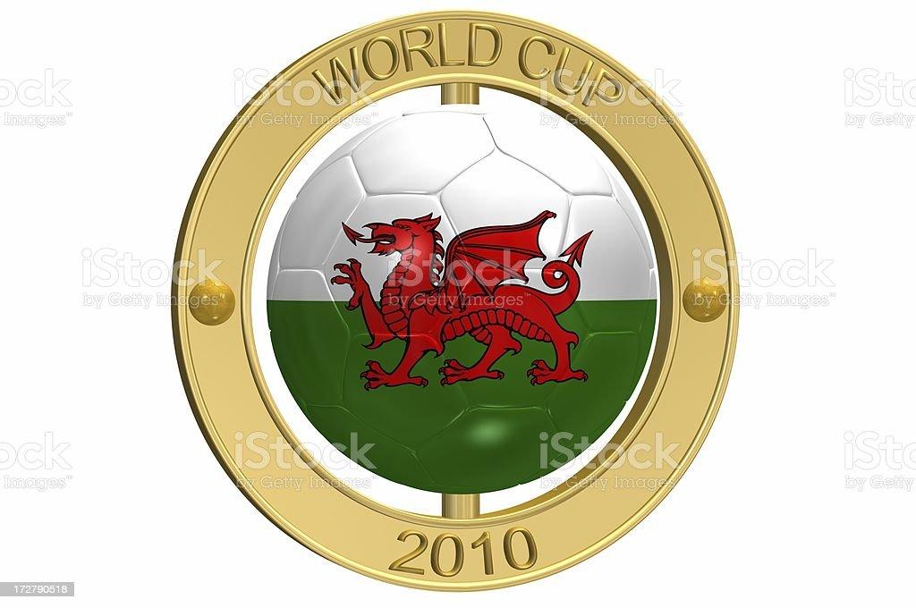 Football Medallion - Wales royalty-free stock photo