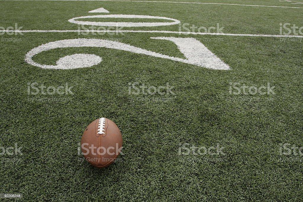 Football Near the Twenty yard line royalty-free stock photo