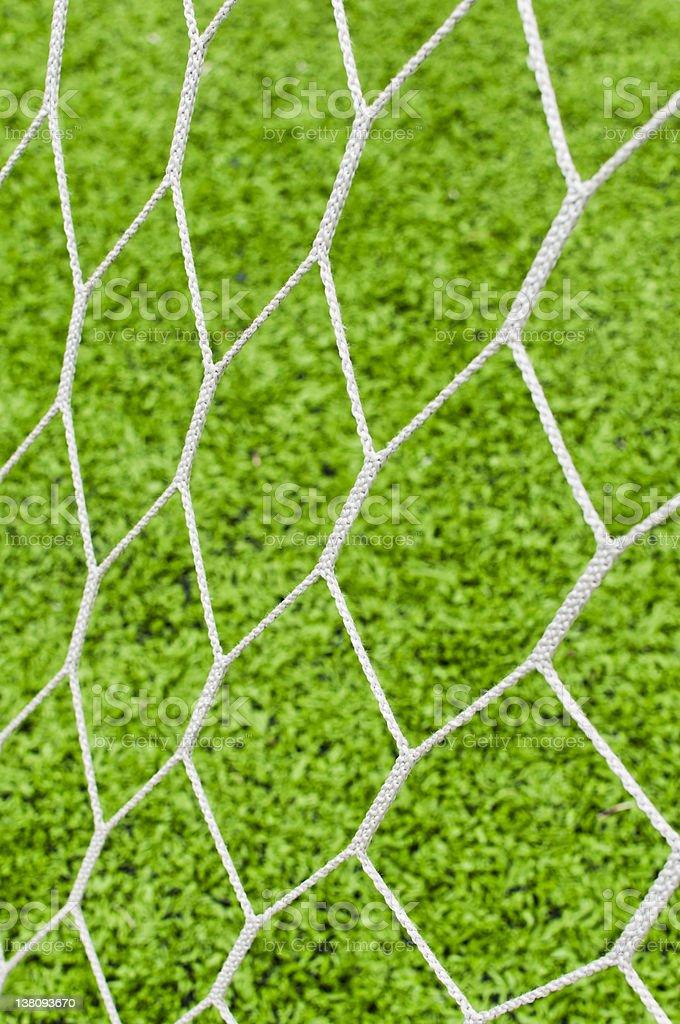 Football nets stock photo
