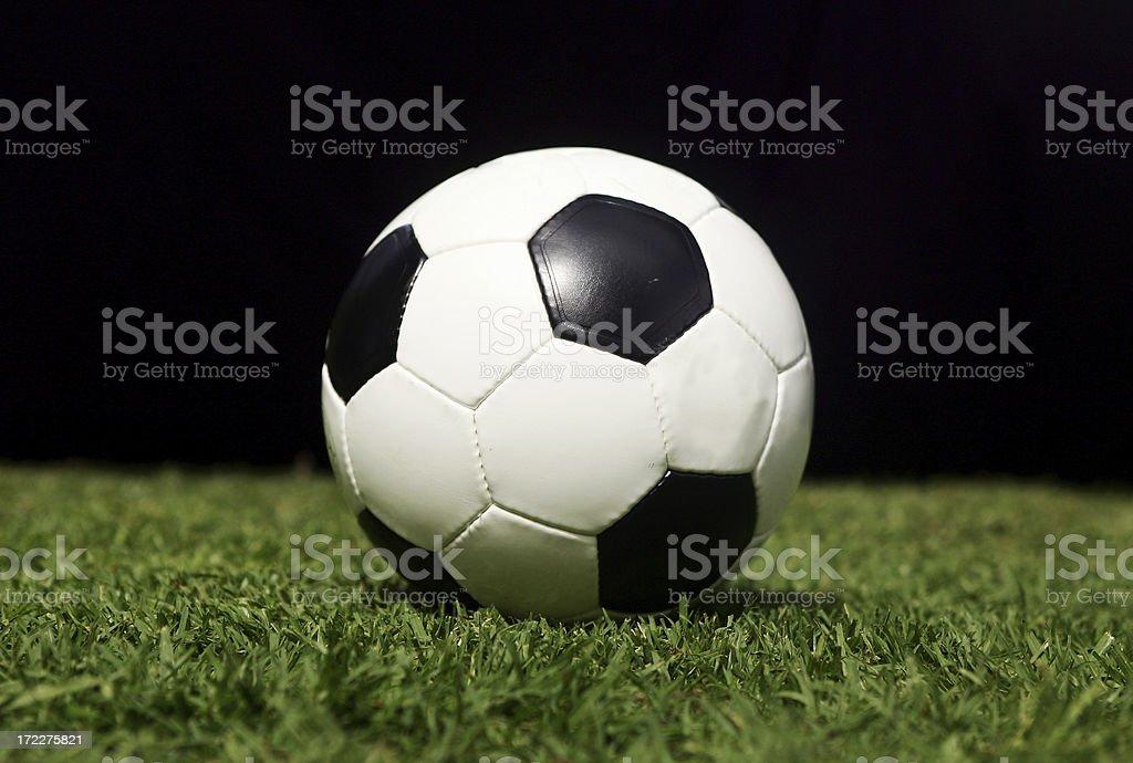 Football on Black Background royalty-free stock photo