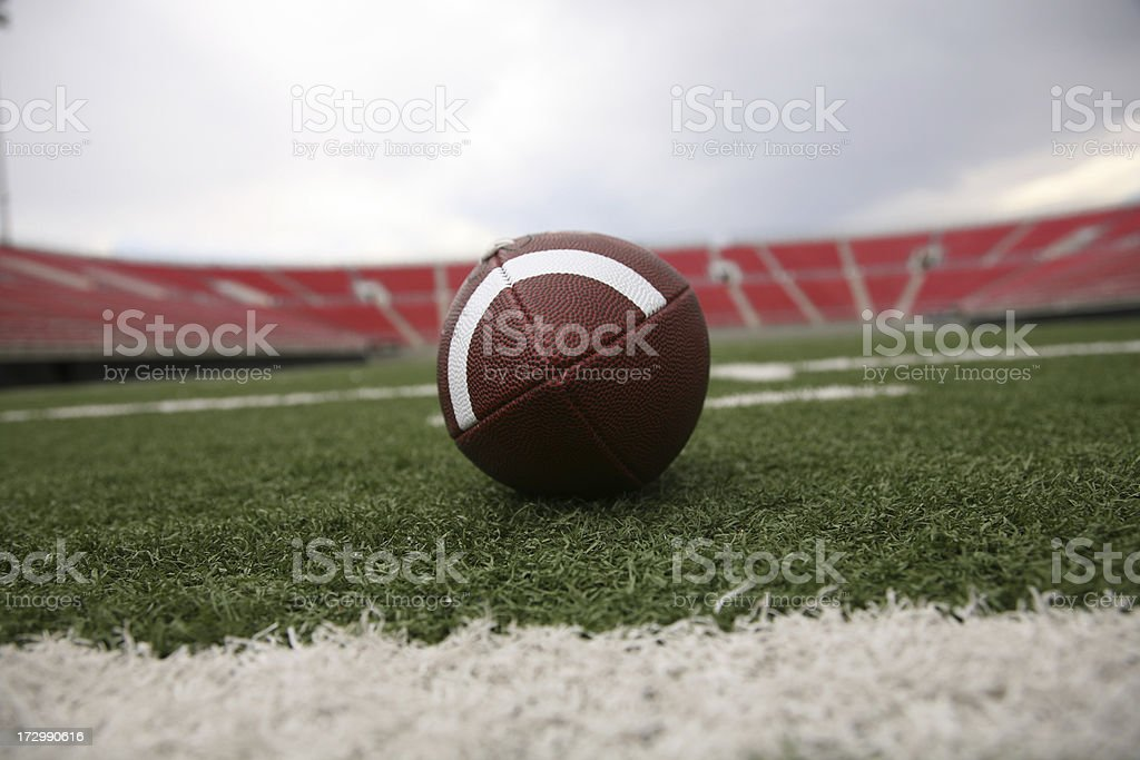 Football on field royalty-free stock photo
