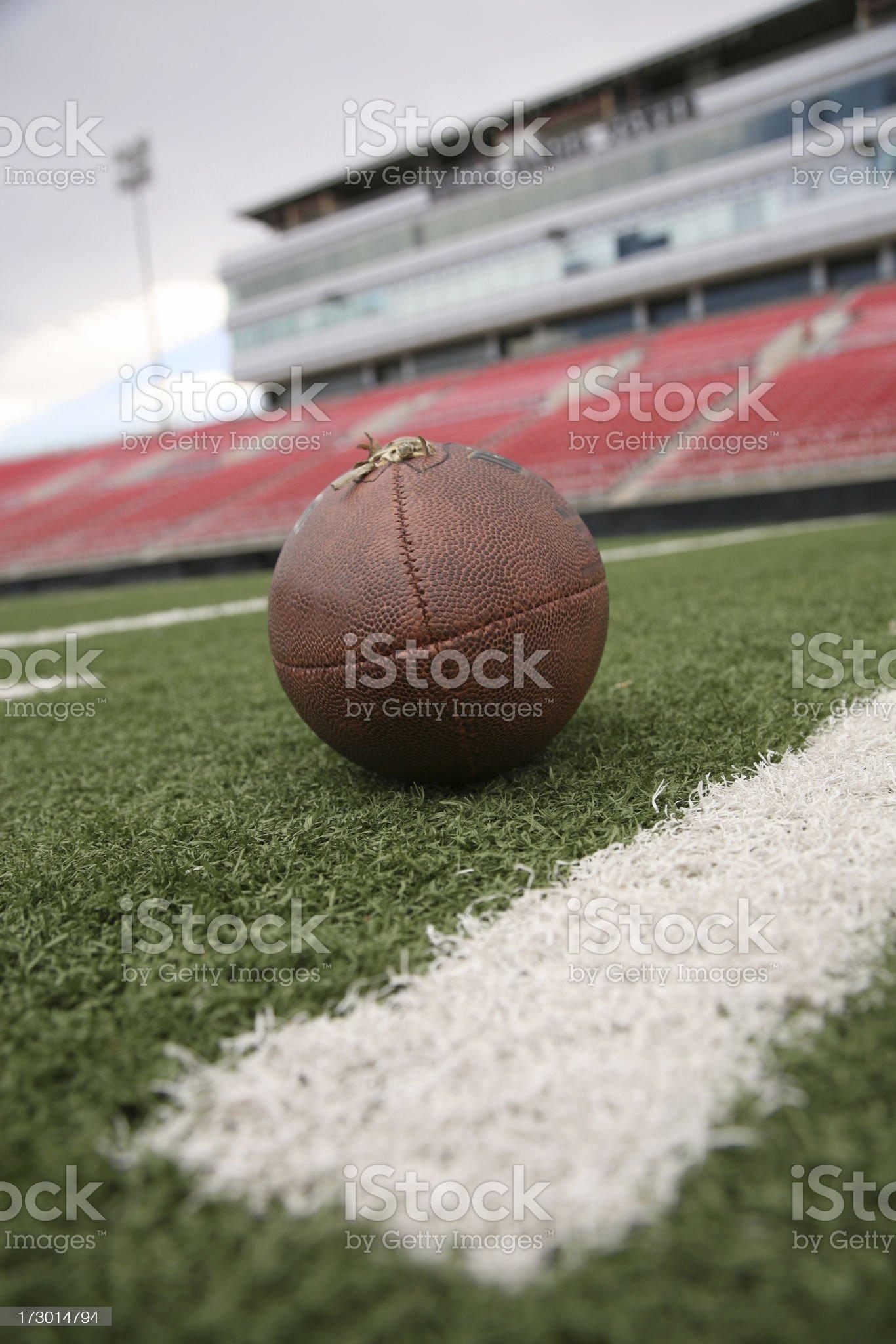 Football on field royalty-free stock photo