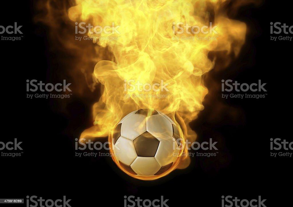 Football auf Feuer Lizenzfreies stock-foto