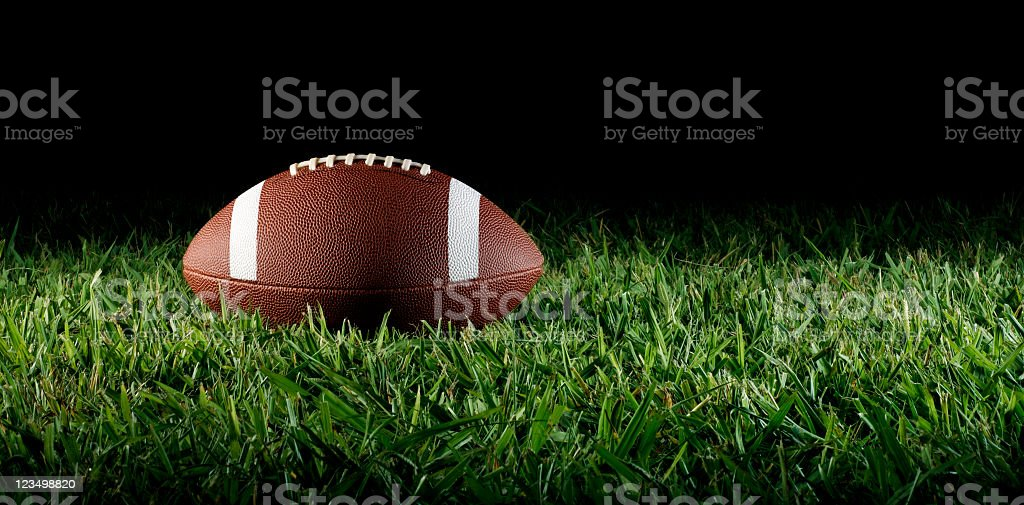 Football on Grass royalty-free stock photo