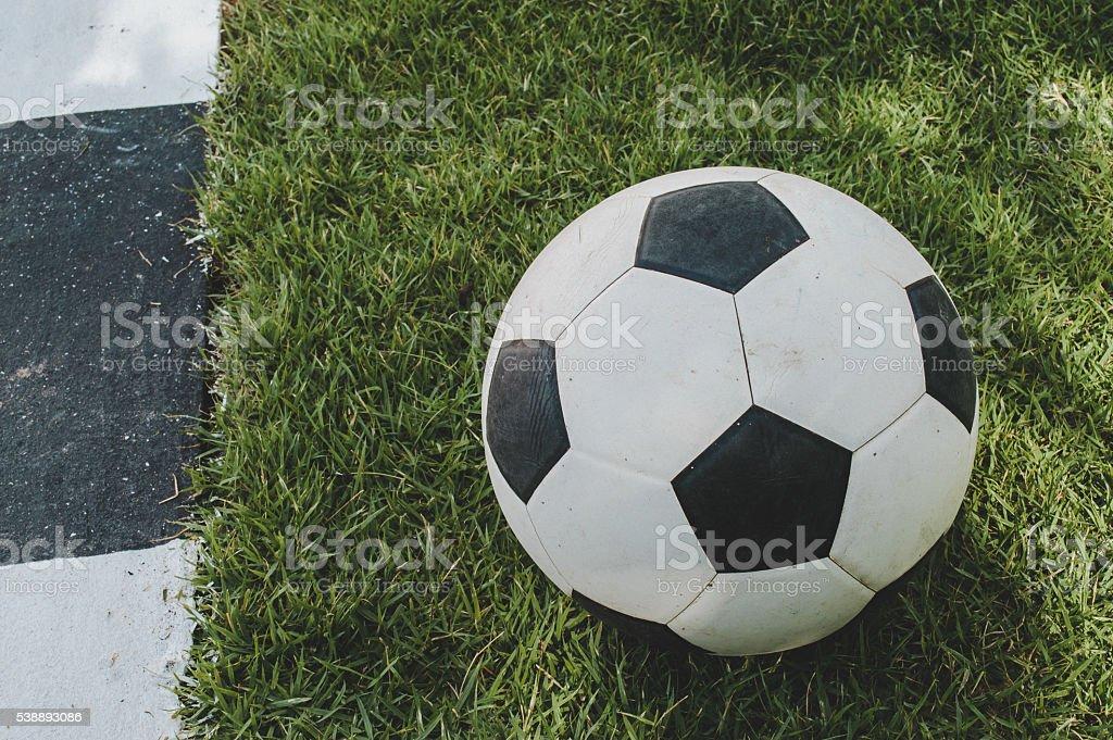 football on grasses stock photo