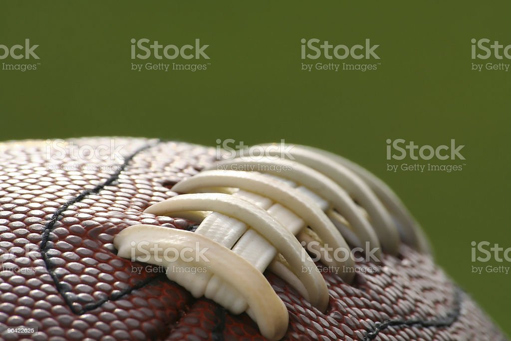 Football on green background royalty-free stock photo