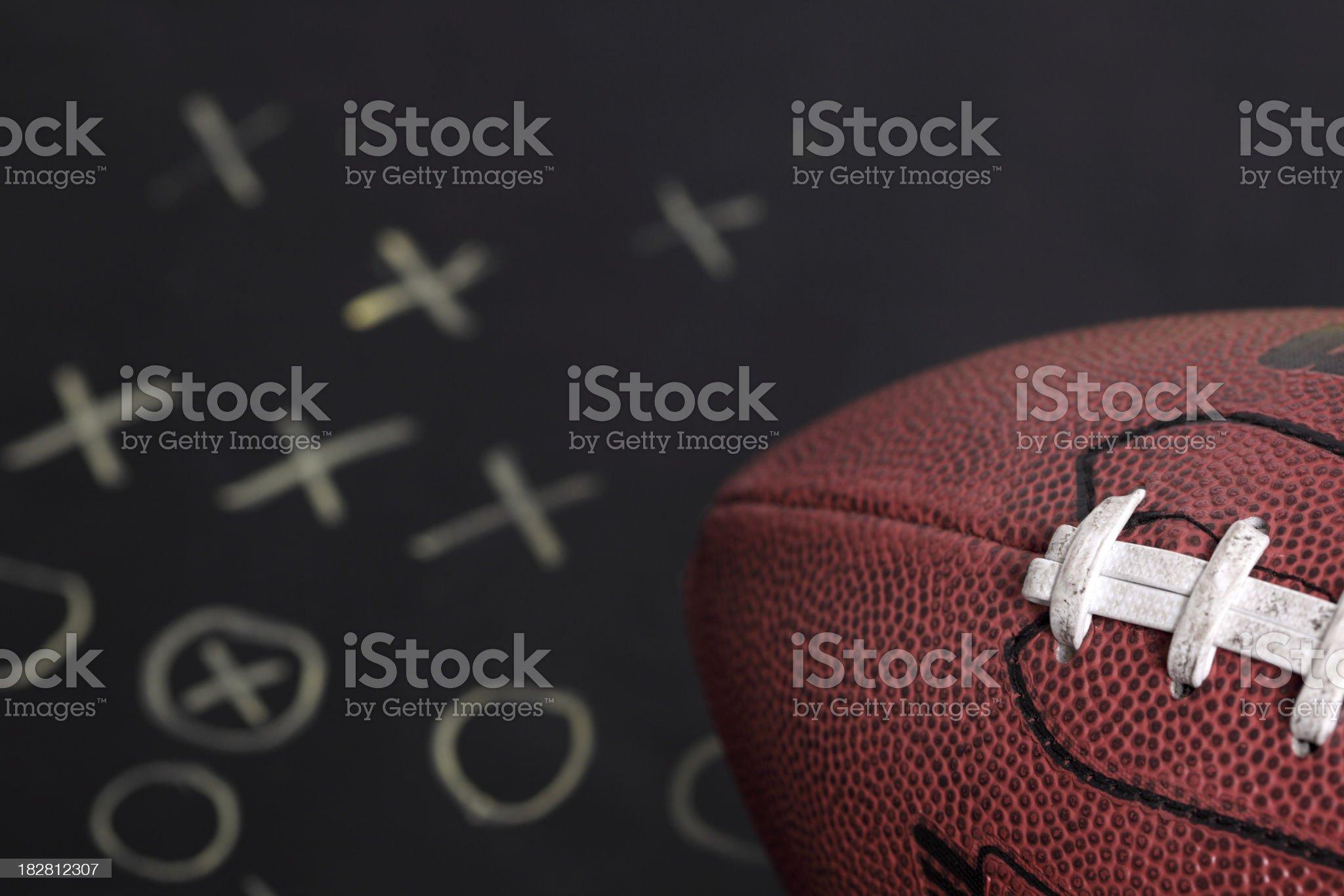 Football on playboard royalty-free stock photo