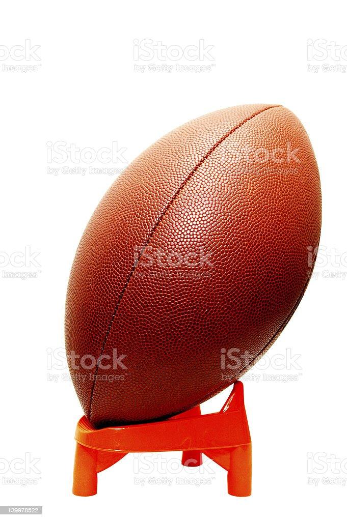 Football on Tee Isolated royalty-free stock photo