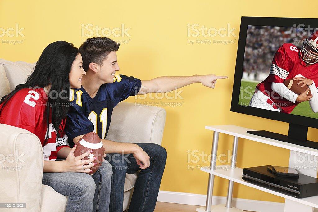Football On Television royalty-free stock photo